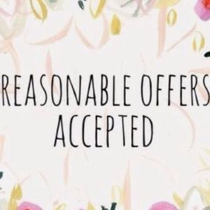 Reasonable Offers 🌸